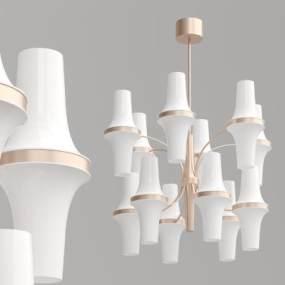 現代多層創意吊燈3D模型【ID:734825887】