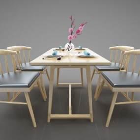 現代風格餐桌3D模型【ID:846937840】