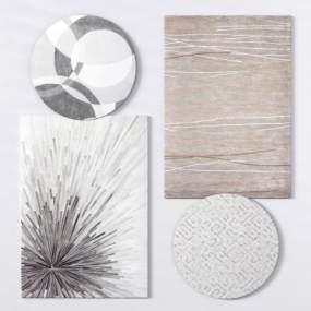 现代布艺地毯方形地毯3D模型【ID:335849267】