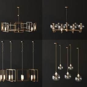 現代輕奢吊燈3D模型【ID:746531881】