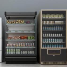 现代冰箱冰柜自动售卖机组合3D模型【ID:230500607】