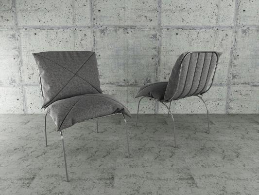北歐餐椅3D模型【ID:736213164】