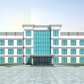 现代三层办公楼3D模型【ID:131461936】