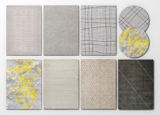 现代地毯3D模型【ID:342749208】