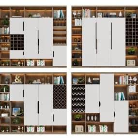 现代酒柜3D模型【ID:644372277】