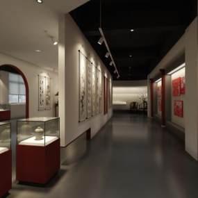 新中式老年大學展廳3D模型【ID:952477657】