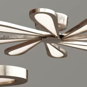 现代金属玻璃吸顶灯3D模型【ID:834724084】