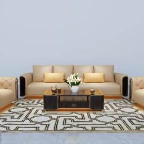 后现代组合沙发3D模型【ID:634919793】