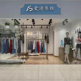 现代服装店3D模型【ID:131504097】