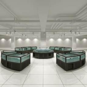 现代超级生物超市水产水池3D模型【ID:134057161】