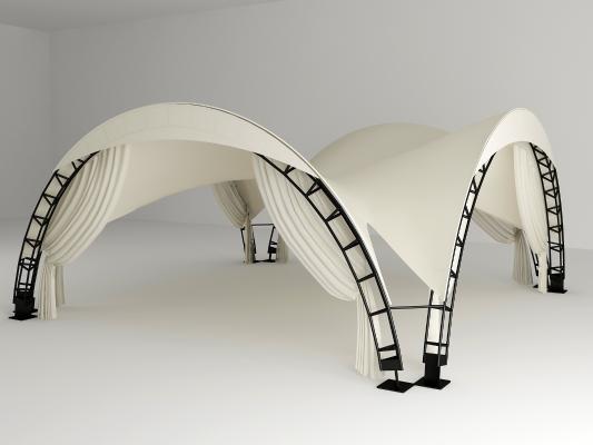 现代帐篷3D模型【ID:435619433】