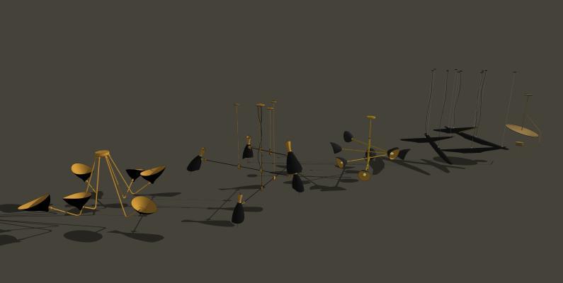 吊燈SU模型【ID:344047818】