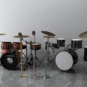 现代话筒流行音乐鼓3D模型【ID:433685438】