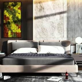 北欧卧室3D模型【ID:849295797】
