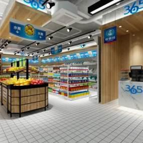 现代超市3D模型【ID:142193137】