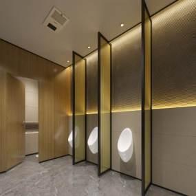 現代酒店衛生間3D模型【ID:434500153】