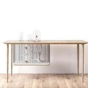 现代北欧创意装饰桌子 3D模型【ID:841293957】