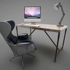 现代风格办公桌3D模型【ID:953477136】