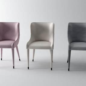 现代皮革休闲椅3D模型【ID:753444051】
