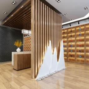 新中式名酒店3D模型【ID:934805806】