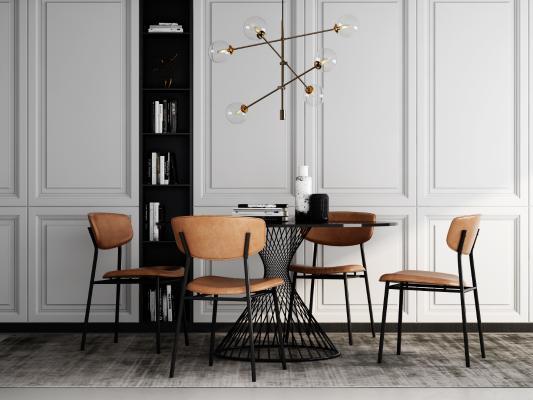 现代餐桌椅3D模型【ID:747628141】