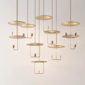 新中式吊燈3D模型【ID:748287814】