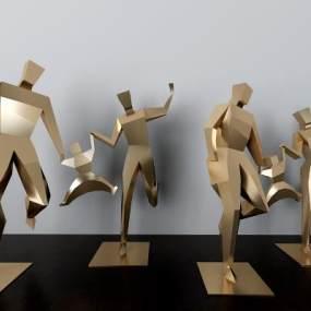 现代公园人物雕塑摆件3D模型【ID:234698511】