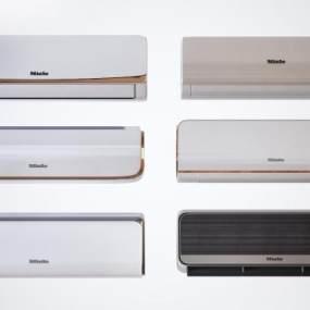 现代壁挂式空调组合3D模型【ID:245247668】