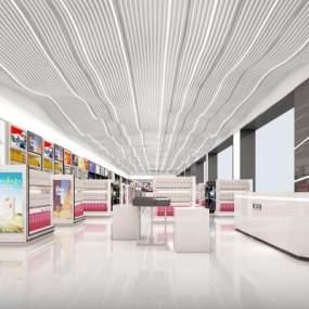 現代風格機場免稅店3D模型【ID:148326253】