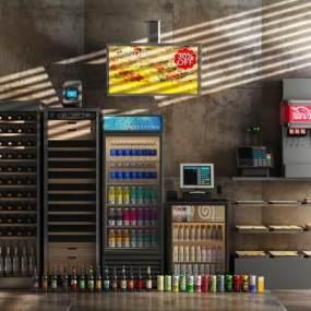 冰柜酒柜3D模型【ID:642545263】