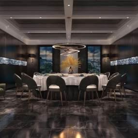 现代酒店包厢3D模型【ID:633130837】