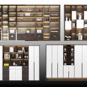 现代酒柜 3D模型【ID:641555209】