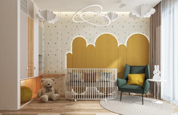 现代儿童房3D模型【ID:552980760】