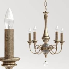 欧式复古古铜吊灯3D模型【ID:733069882】