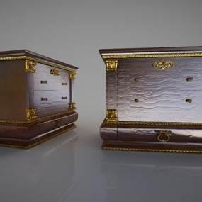 欧式床头柜3D模型【ID:633812185】