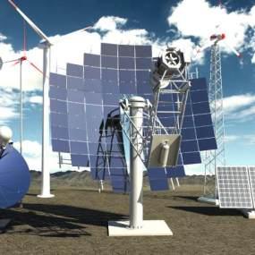 现代风格卫星信号接收器雷达3D模型【ID:443887205】