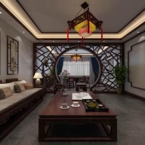 中式茶楼 3D模型【ID:641748649】