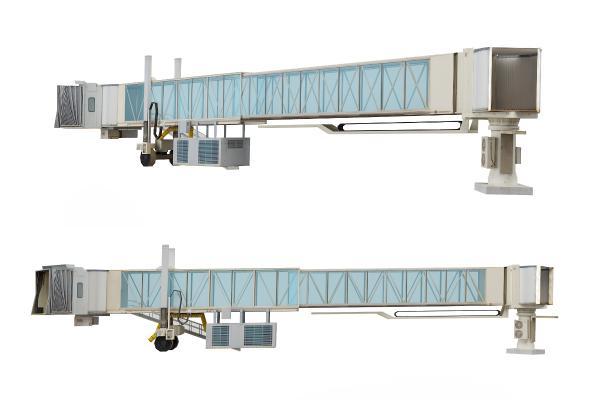 现代机场登机通道走道廊道3D模型【ID:435829959】