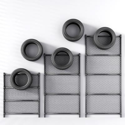 工业风铁丝网轮胎挂件墙饰3D模型【ID:330592740】