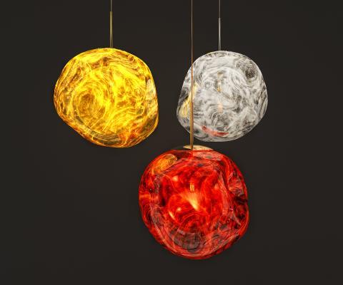 后现代熔岩吊灯3D模型【ID:733510821】