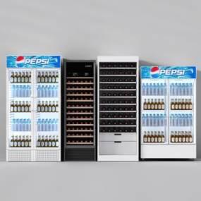 现代冰柜3D模型【ID:230619638】