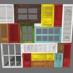 墙面造型 餐饮造型 窗 餐厅墙面造型 隔断 屏风【ID:444055972】
