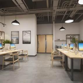 現代辦公室3D模型【ID:951133077】