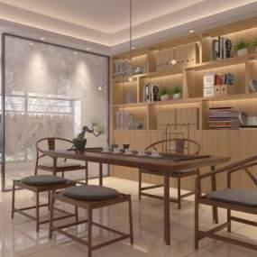新中式��房3D模型【ID:543194424】