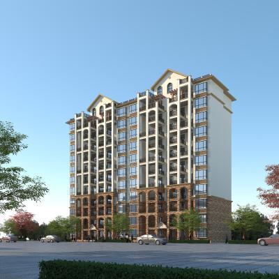 欧式高层住宅3D模型【ID:145091769】