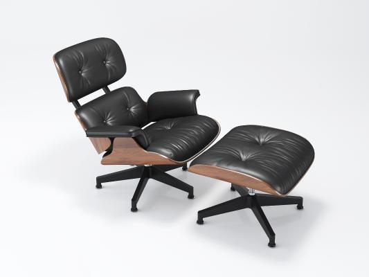 伊姆斯Eames躺椅国外3D模型【ID:734302321】
