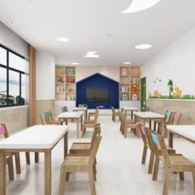 現代幼兒園教室3D模型【ID:947866668】