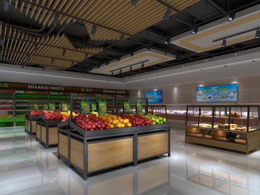现代商场超市3D模型【ID:143807148】