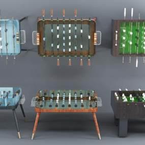 现代桌游设备桌游桌组合3D模型【ID:331617833】