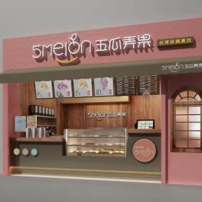 现代甜品奶茶面包店3D模型【ID:634915426】